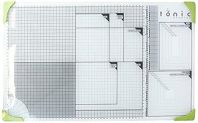 Tonic Studios 352e A3 Glass Cutting Mat, White/ Green FAST FREE DELIVERY