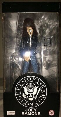 "The Ramone's Joey Ramone 12"" Stage Action Figure W/Mic Stand NIB"