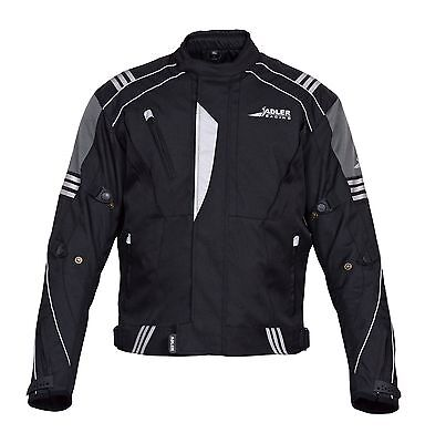 Adlers Racing Motorcycle Motorbike Sporty Jacket Textile Cordura CE Armoured