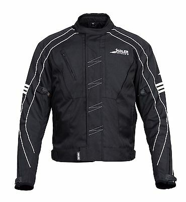 Adlers Gears Motorcycle Motorbike Sporty Jacket Textile Cordura CE Armoured
