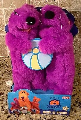 """11"""" Pip and Pop In Box Plush Toys Bear In The Big Blue House Fisher Price 1999"""