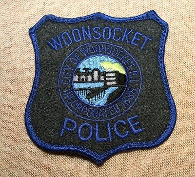 RI Woonsocket Rhode Island Police Patch