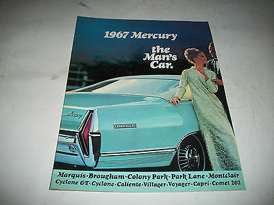 1967 Mercury Sales Brochure Marquis Colony Park Park Lane Cyclone Gt Montclair