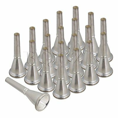 25mm Diameter Silver Double Row horns Bb/F Mouthpiece Set of 20