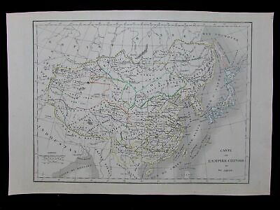 Chinese Empire China Corea 1830 antique scarce French Langlois map