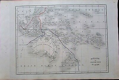 Australia New Holland Oceania Australasia 1830 scarce antique Langlois map