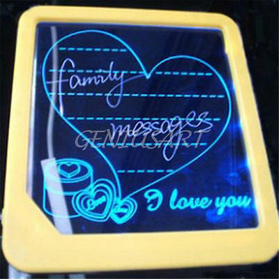 Fluorescent Neon LED Glow Board Writing Painting Message Board Menu Sign