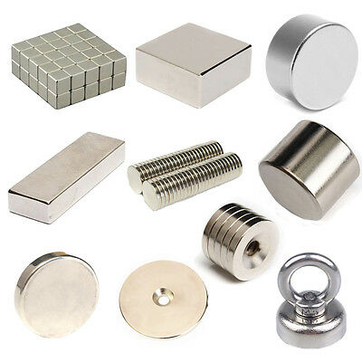 Wholesale N52 Neodymium Block Round Disc Ring Hole Rare Earth Fridge Magnets