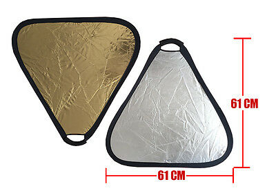 2 in 1 30cm/60cm/75cm Gold Silver/Silver Translucent Portable Folding Reflector