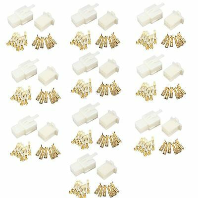 10x 6 Way 2.8mm Mini Connector Kit For Honda Motorcycle Pin Terminal Blade White