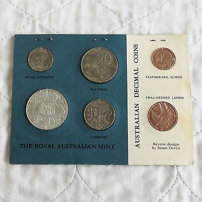 AUSTRALIA 1966 6 COIN UNCIRCULATED DECIMAL SET WITH SILVER 50 CENT - RAM pack