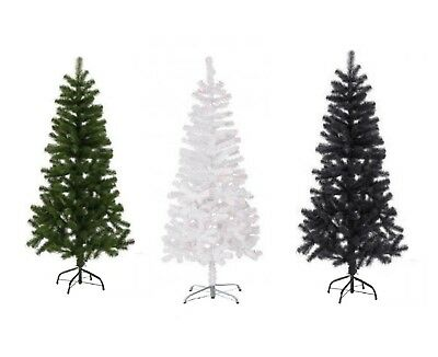 New Traditional Christmas Decoration Tree With Stand White Green & Black 3 sizes