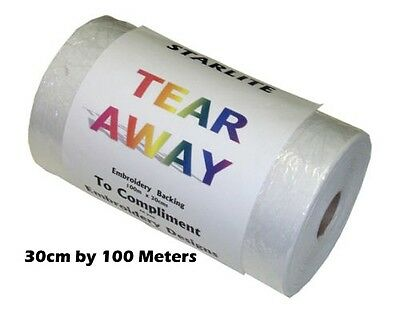 Starlite Tear Away Embroidery Stabiliser / Backing 30cm or 90cm x 100 metre Roll