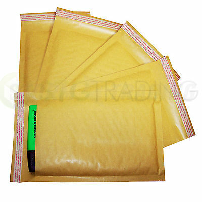 340X445mm Internal Size MP10 50 Gold Padded Mailing Bubble Envelopes