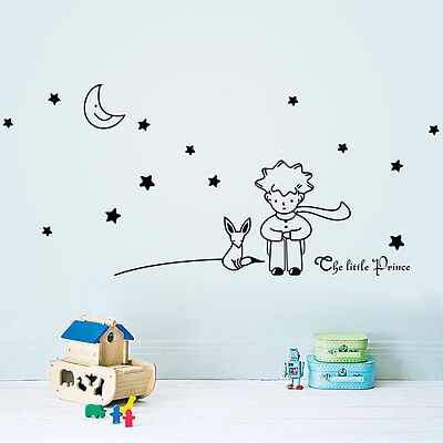 Cartoon THE LITTLE PRINCE Fox Removable Wall Stickers Decals Home Decor Art Kids