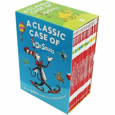 Dr. Seuss A Classic Case Collection 20 Books Box Set Pack The Cat in the Hat