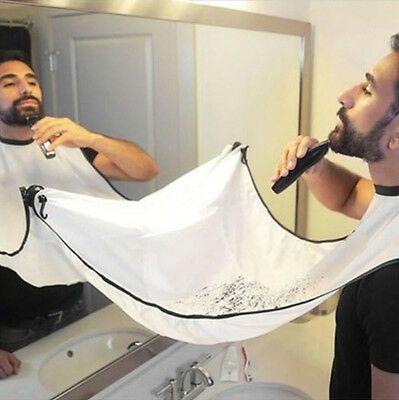 Beard Apron Gather Whiskers Cloth Bib Facial Hair Trimmings Catcher Cape New