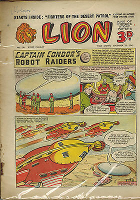 LION COMIC No. 136-139 from 1954 LOOK! 4 issues!