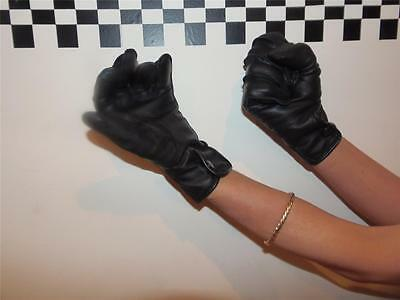 New Genuine MOD Surplus Black Leather Gloves Police Women ideal for horse riding