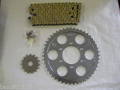 JT Gold X-Ring Chain And Sprockets For Suzuki GSF600 Bandit 95-99 MK1 GSF 600