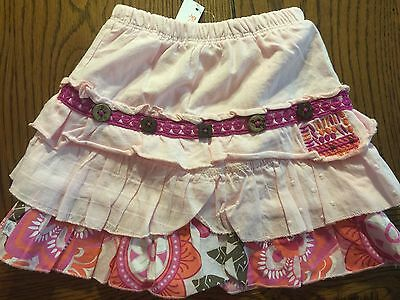 *NWT NAARTJIE* Girls Pink Muslin Skort with Macaw Ruffle in Pearly Sz 3-6 Months