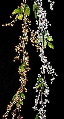 5ft Berry Green Leaf Artificial Christmas Garland Indoor Decoration - 2 colours