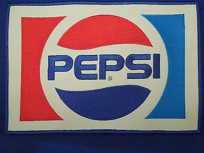 "Vintage Pepsi Soda Jacket Uniform Logo Patch 9 1/4"" x 6 1/4"""