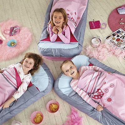 Girls Junior Generic Ready Bed Pink New Kids With Foot Pump Bedroom Free P+P