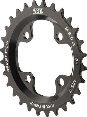 New North Shore Billet Variable Tooth Chainring 28T Standard 64 BCD