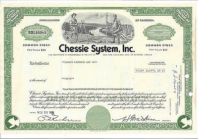 Chessie System Inc.......1974 Stock Certificate