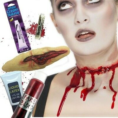 Zerschnitten Hals Halloween Fx Zombie Make-Up Blood Gesichtsbemalung Kostüm
