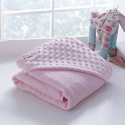 New Clair De Lune Pink Dimple Super Soft Baby Girls Hooded Bath Time Towel