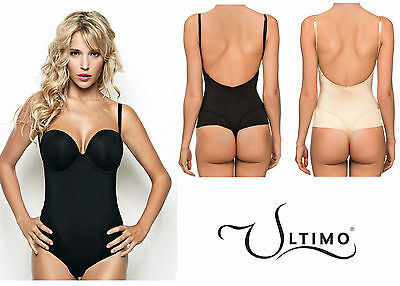 Ultimo Low Back Body * DD to G Fuller Bust Underwired 0140 * Black or Nude