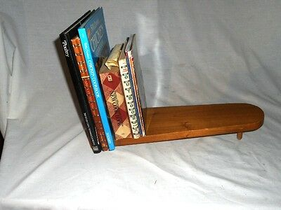 Hand Made Primitive Unique Shabby Folk Art Counter Book Holder Book Shelf