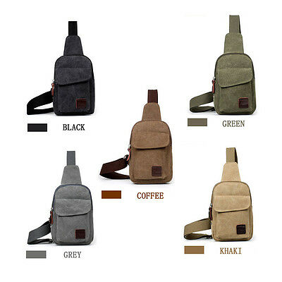 Mens Canvas Simple Outdoors Sport Casual Single Bag Back Pack Durable Bag New