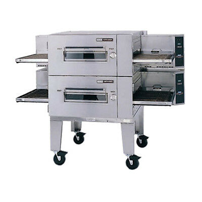 Lincoln 3240-2N NAT Gas Double Stack Conveyor Oven W/ Fastbake