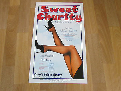 Bonnie LANGFORD in Sweet Charity Musical VICTORIA Palace Original Theatre Poster