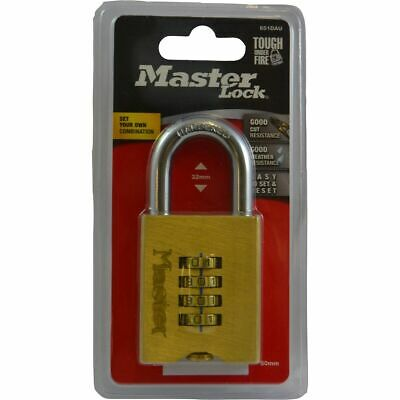 Champion Masterlock Brassl Reset Combination - 50mm, 1 Pack