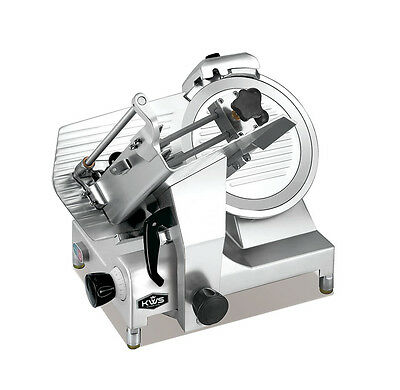 "KWS Deluxe Commercial 450W Electric Meat Slicer 12"" W/ Commercial Grade Carriage"