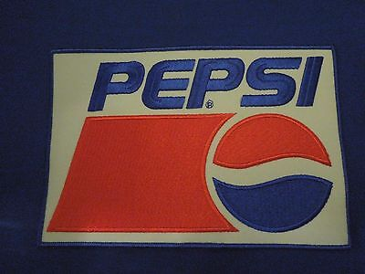 Vintage Pepsi Cola Soda Company Advertising Embroidered Iron On Patch
