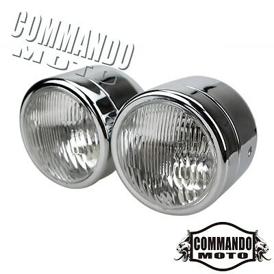 """H4 12V 4"""" Motorcycle Double Lights Twin Headlight Dual Lamps For Harley Davidson"""