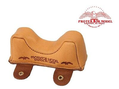 Protektor Model - New Empty #2 Leather Front Owl Bag Shooting Rest Made In Usa