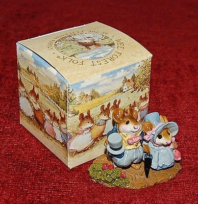 """WEE FOREST """"Lord And Lady Mousenbatten"""" Signed! In Original Box! Adorable!"""