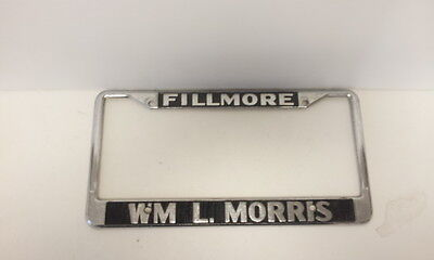 """Chrome License Plate Frame /""""Happiness is driving my chevy/"""" Auto Accessory"""