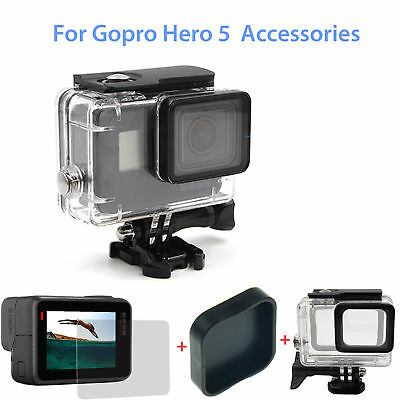 For GoPro Hero 5 Camera Accessory Protective Housing Case Waterproof Glass Lens