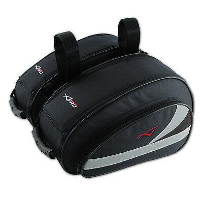 Textile Side Twin Bags Luggage Saddlebags Throw Over Motorcycle Motorbike