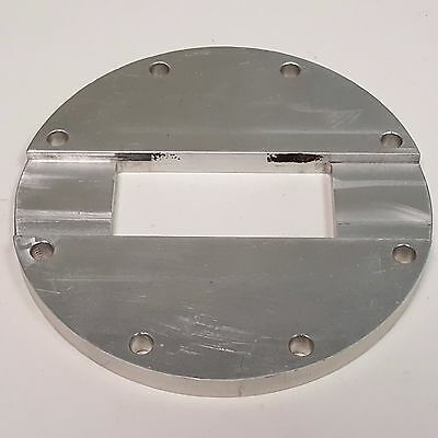 """RF Microwave Waveguide Wide Grooved Flange, WR284, 5.31"""" dia.  2.20/3.30 Ghz"""