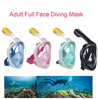 Full Face Snorkeling Snorkel Mask Diving Goggles With Breather Pipe For Swimming