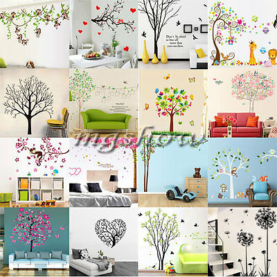 Tree Bird Wall Decal Art Stickers Mural Home Vinyl Family Quote Flower Room New