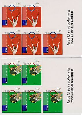Australia Stamp 2008 Beijing Olympics P & S Sheetlets x2 Both Red Green Versions
